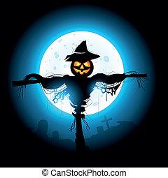 halloween, espantapájaros
