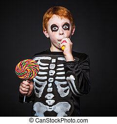 halloween., esqueleto
