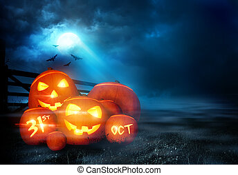 Halloween Evening Background