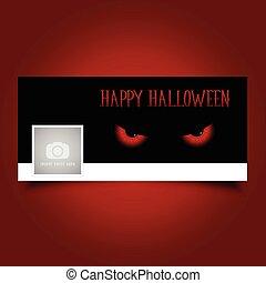 halloween evil eyes timeline cover 2609