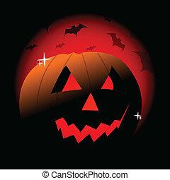 Halloween evil pumpkin