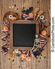 halloween, färgrik, bakgrund