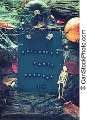 Halloween, fête,  invitation