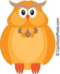 Halloween Fall Color Owl Illustration
