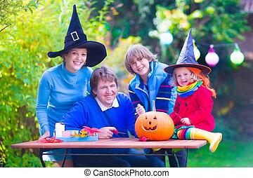 halloween, famiglia