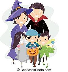 halloween, famille