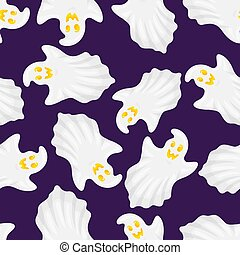 halloween, fantôme, seamless, pattern.