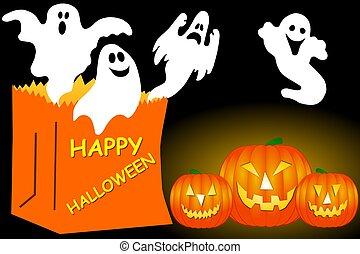 halloween, fantasmas