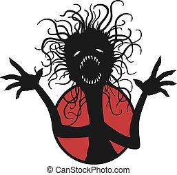 Halloween fear creature