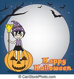halloween, felice, manifesto