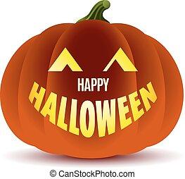 halloween, felice, zucca