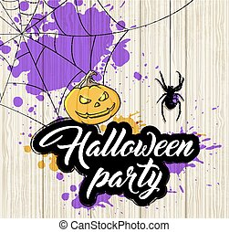 halloween, fest., inbjudan