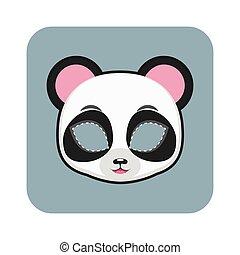 halloween, festivités, autre, masque, panda