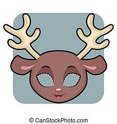 halloween, festivités, autre, masque, renne