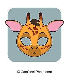 halloween, festivités, girafe, masque, autre