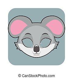halloween, festivités, koala, masque, autre