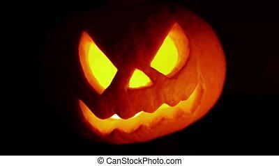 Halloween. Fire in the eye