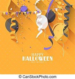 Halloween flat background