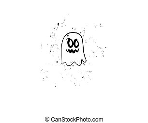 Halloween Flat icon character on white background in vector illustration