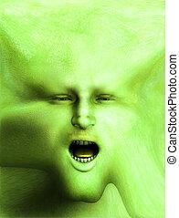 Halloween Flesh Face