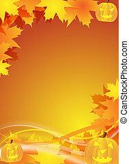 halloween flyer / background - abstract halloween background...