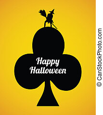 Halloween flyer with special design