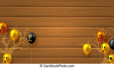 Halloween flying glossy balloons. - Halloween flying glossy ...