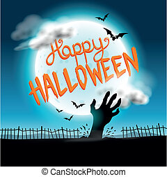 halloween, fond, heureux