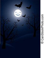 halloween, fond, vecteur