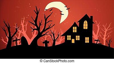 halloween, fond