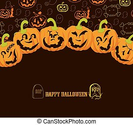 halloween, fondo, felice