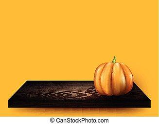 halloween, fondo, pumpkin., 3d