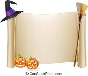 halloween, fondo, rotolo