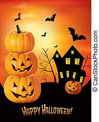 halloween, fondo., vector