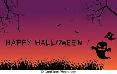 halloween, fondos, fantasma, asustadizo