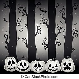Halloween forest theme image 5