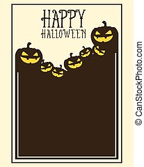Halloween frame invitation style collection