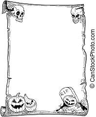 Halloween Frame Scroll with Pumpkins