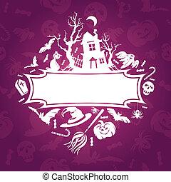 Halloween frame vector illustration