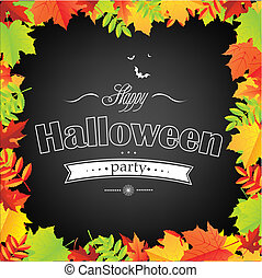 Halloween Frame With Leaves