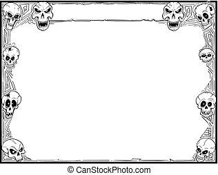 Halloween Frame with Skulls