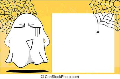 halloween, frame2, dessin animé, fantôme
