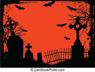 halloween, friedhof