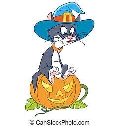halloween, gato