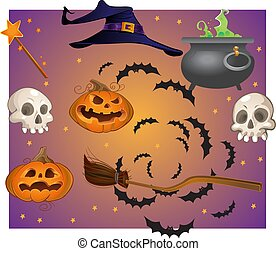 halloween, gegenstände