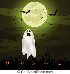 halloween ghost background