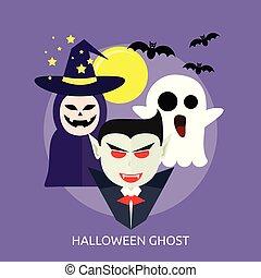 Halloween Ghost Conceptual illustration Design