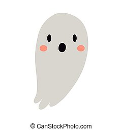 halloween ghost flat style icon