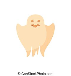 halloween ghost floating isolated icon vector illustration ...