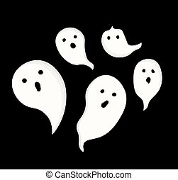 Halloween Ghost, Recipes FOR HALLOWEEN. DESSERTS. Isolated ...